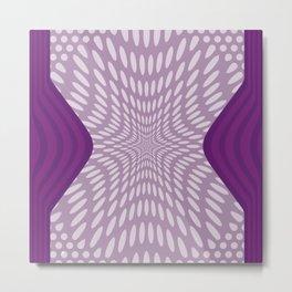 Purple Dots & Stripes Metal Print