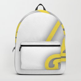 Letter Z in Yellow Backpack
