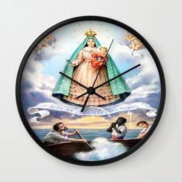 Virgen de N.S. de La Caridad del Cobre (Patrona de de la Isla de Cuba) Wall Clock