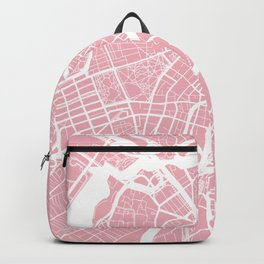 Boston, Massachusetts, City Map - Pink Backpack