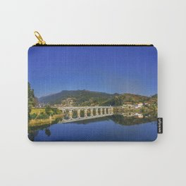 Bridge across Cavado river (Color). Geres National Park, Portugal Carry-All Pouch