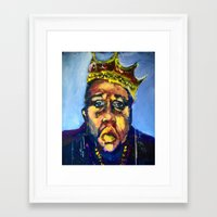 biggie Framed Art Prints featuring Biggie by Larry Caveney