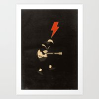acdc Art Prints featuring ACDC - For Those About to Rock! by Diego Maricato