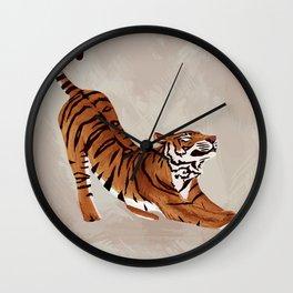 Tiger Stretch Wall Clock