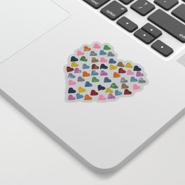 Distressed Hearts Heart Navy Sticker