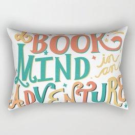 Nose in a Book, Mind in an Adventure Rectangular Pillow