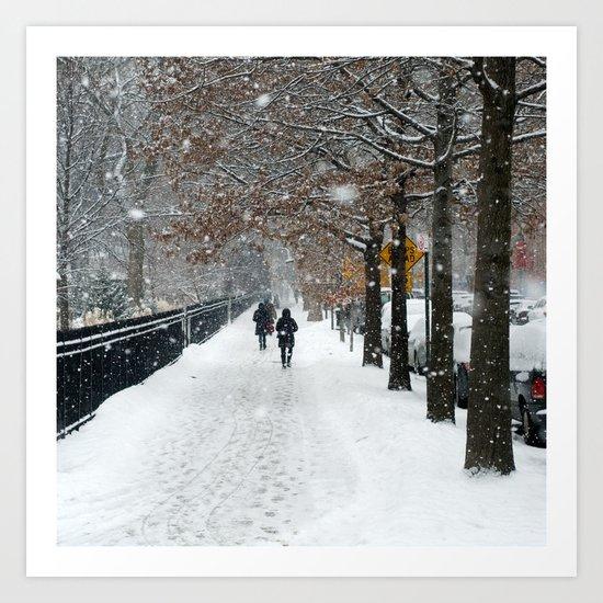 New York in Winter Art Print