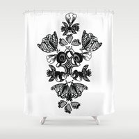 insects Shower Curtains featuring Insects by Sierra Neale