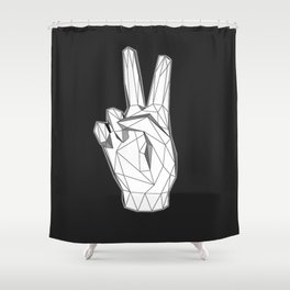 Geometric Peace sign Shower Curtain