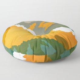 Abstract Mountains II Floor Pillow
