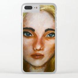 Acrylic Girl Portrait (Natasha) Clear iPhone Case