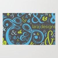 lara croft Area & Throw Rugs featuring Lara J Designs Logo  by Lara J Designs