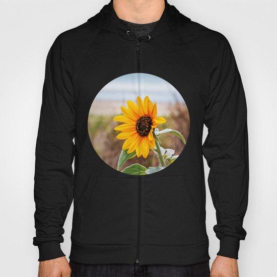 Sunflower near ocean Hoody