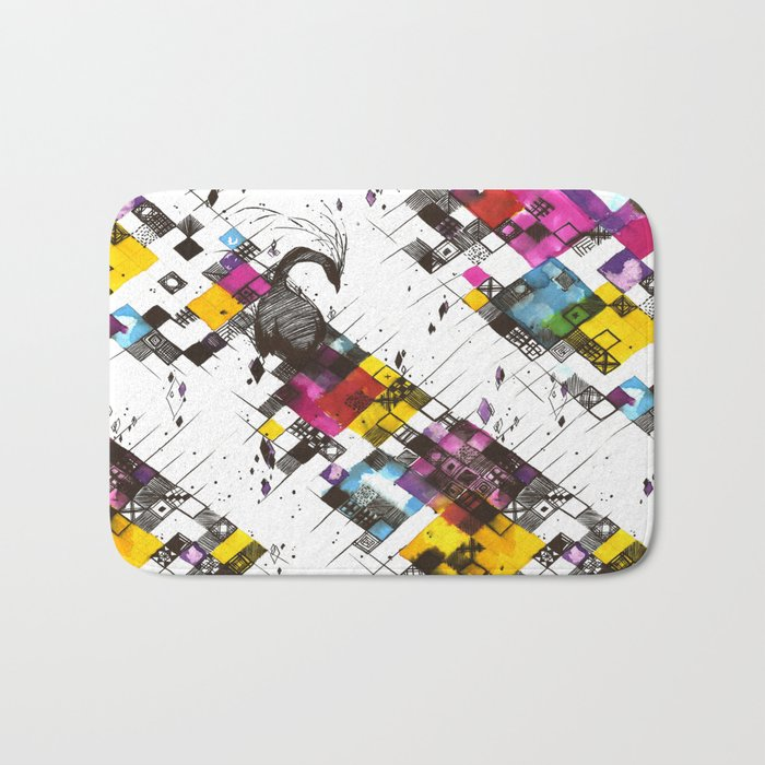 Ink Kaleidoscope Bath Mat