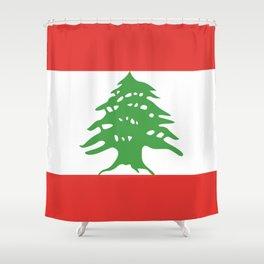 Lebanon flag emblem Shower Curtain