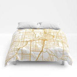 ATLANTA GEORGIA CITY STREET MAP ART Comforters