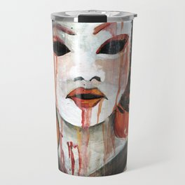 Geisha in Autumn Rain: The Innocent Concubine Travel Mug