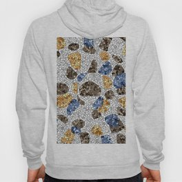 Blue and Orange Mosaic Abstract Hoody