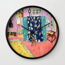 Henri Matisse The Pink Studio Wall Clock
