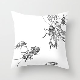 Cucaracha #7 Throw Pillow