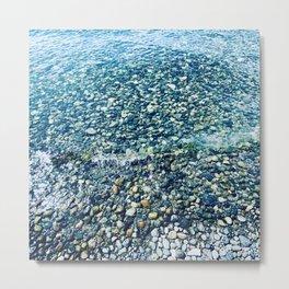 Water's Pebbled Edge at Puget Sound Metal Print
