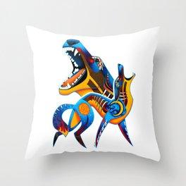 Oaxacan Coyote Throw Pillow
