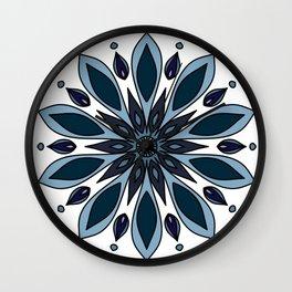 Blue knapweed flower Wall Clock