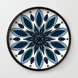 Blue knapweed flower Wall Clock