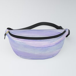 Ultra Violet Watercolor Layers Fanny Pack