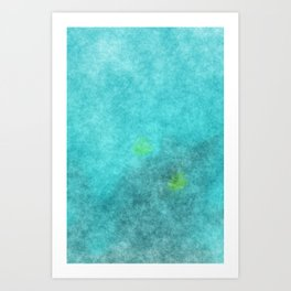 stained fantasy crystalline Art Print