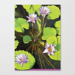 Water Lilies FTBG op Canvas Print