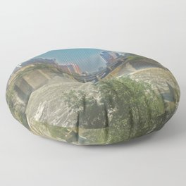 High Falls  on the Genesee River Floor Pillow
