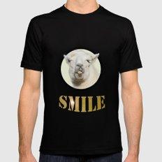 Alpaca Smile  Mens Fitted Tee Black MEDIUM