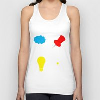 paper towns Tank Tops featuring John Green Books - Fault In Our Stars, Abundance Katherines, Paper Towns, Alaska by denise