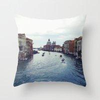 venice Throw Pillows featuring Venice by Rhianna Power