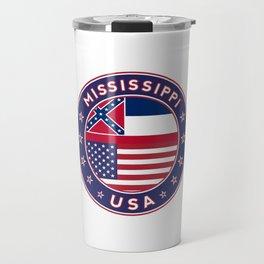 Mississippi, USA States, Mississippi t-shirt, Mississippi sticker, circle Travel Mug