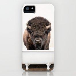 Buffalo in a Vintage Bathtub (c) iPhone Case