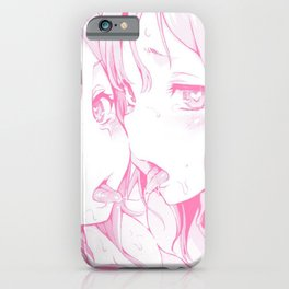 Sexy anime aesthetic - naughty girls iPhone Case