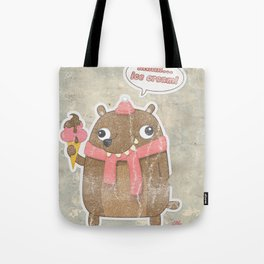 Icecream Bear Tote Bag