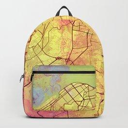 Havana Cuba Street Map Art Yellow World Backpack