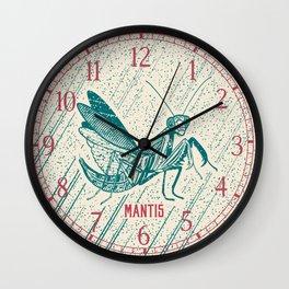 Insect's badge. Mantis. Wall Clock