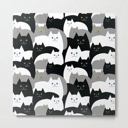Kitty Cat Family Metal Print