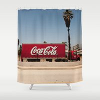 coke Shower Curtains featuring Coke Truck by Alex