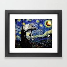 Starry Night versus the Empire Framed Art Print