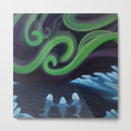 Beluga Nights Metal Print