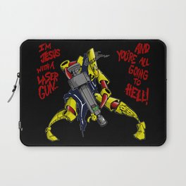 Scud The Disposable Assassin: Jesus with a Laser Gun! Laptop Sleeve