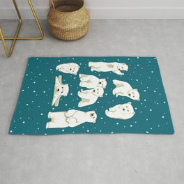 Cute Polar Bear Cubs Rug