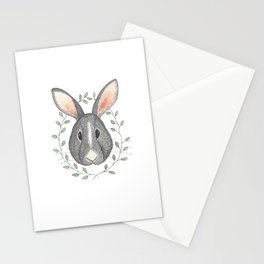 Buns the Grumpy Bunny Stationery Cards