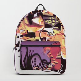 The Wheel- Abstract Fantasy Collage Backpack