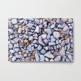 Lake Beach Pebbles Metal Print